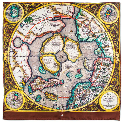 Map of the North Pole Pocket Square