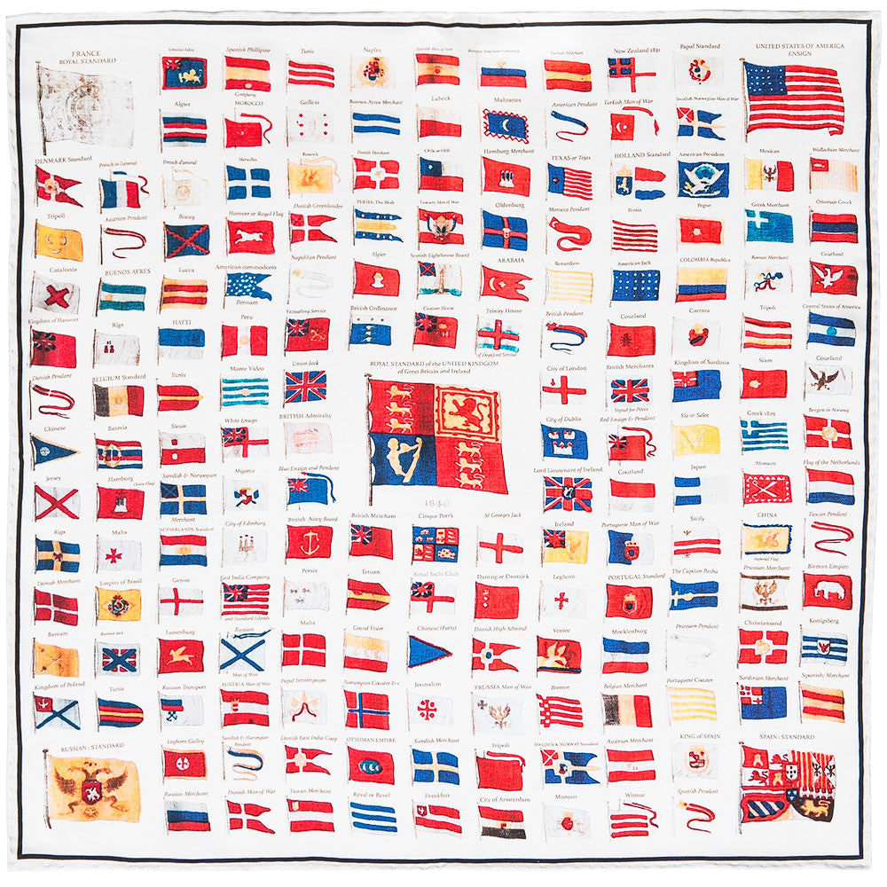 Naval flags of 1840 rampley and co naval flags of 1840 hankerchief publicscrutiny Images