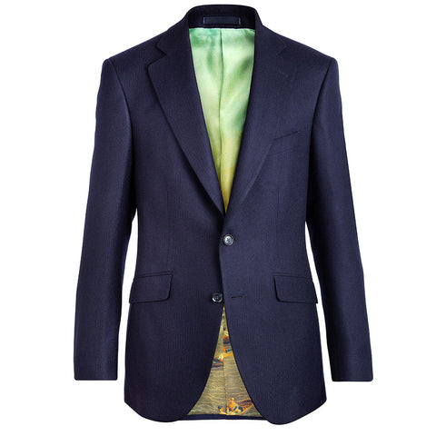 Navy Superfine Merino Wool Jacket