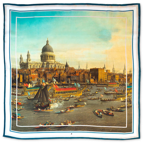 River Thames Lord-Mayors Day St-Pauls Silk Scarf