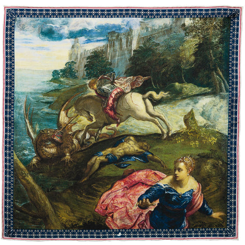 St George And The Dragon Pocket Square