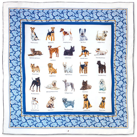 Terrier Breeds Country Life Silk Scarf