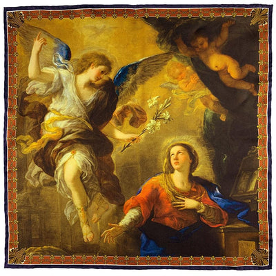 The Annunciation by Giordano Pocket Square