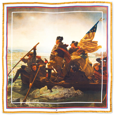 Washington Crossing the Delaware Pocket Square