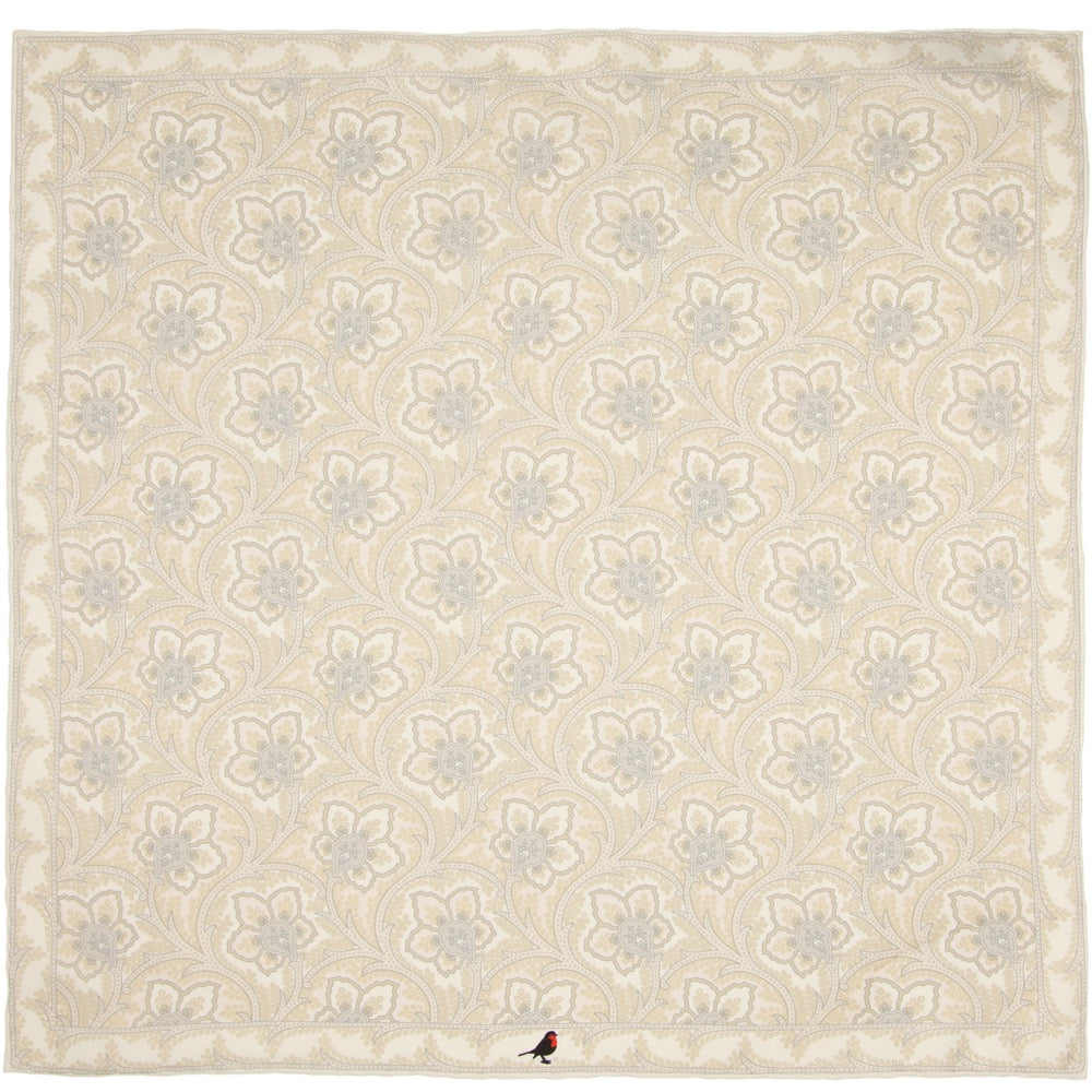 White and Ivory Pocket Square