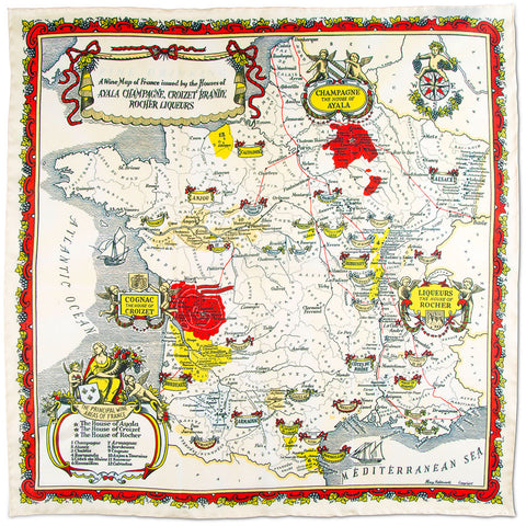 Wine Regions of France Pocket Square