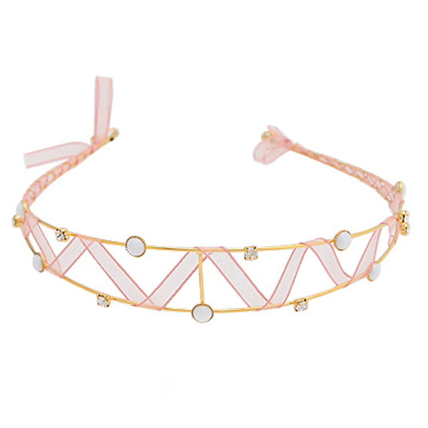 Zigzag Crystal Lace Headband
