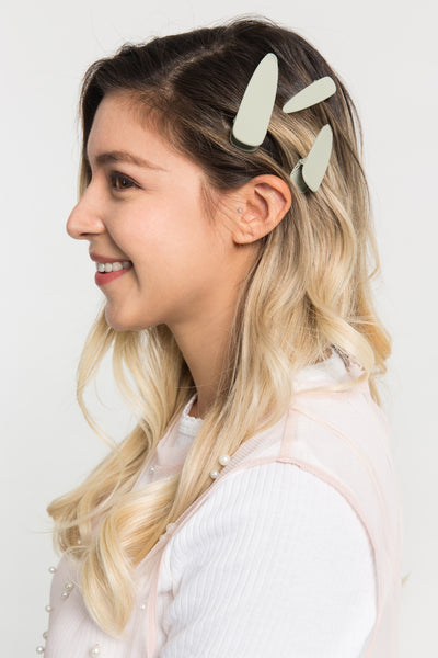 Modern Thesaurus Hair Clip Set