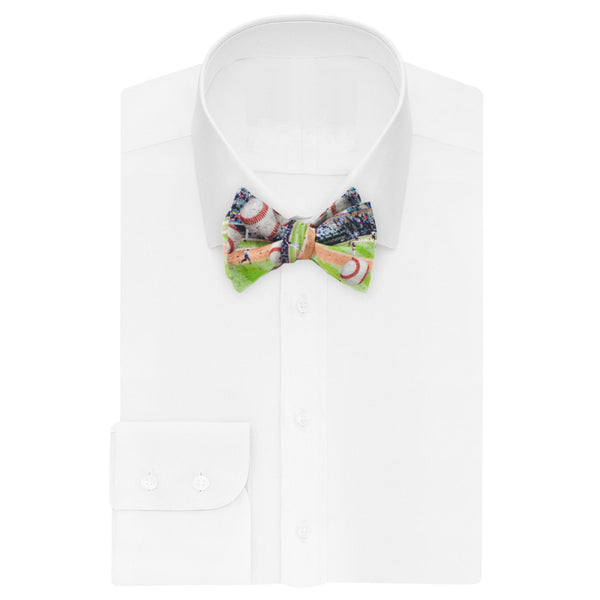 Flying Baseball Bow Tie