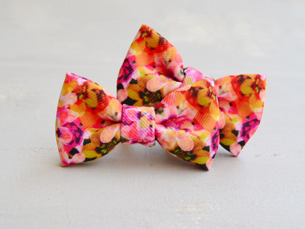 Tiepology Handmade Kids Adored Hair Bow Clip Set
