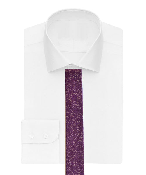 Cotton tie in tiny dot