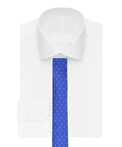 Cotton tie in denim blue