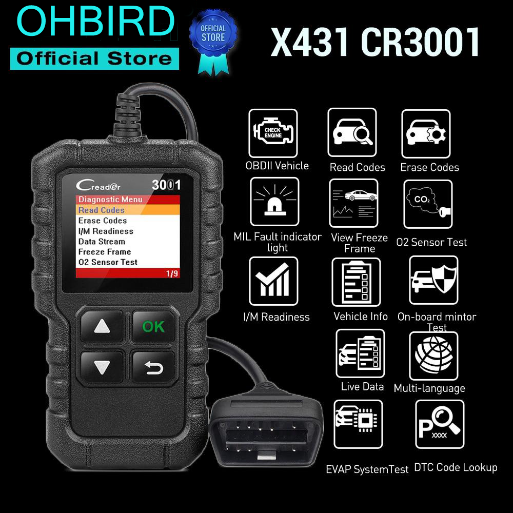 OHBIRD professional automotive scanner OBDII