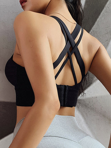 Seamless Cross Back Bra