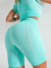 High Waist Seamless Workout Shorts