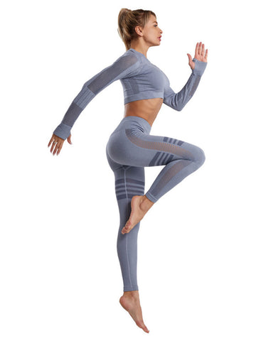 Hollow Out Yoga Sets Two Piece Outfits