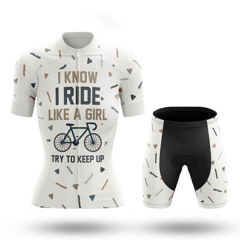Like A Girl V5 - Women's Cycling Kit (# 744)