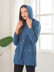 Waist Hooded Waterproof Jackets