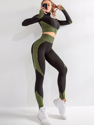 Hip Lift Fitness Sports Yoga Two Piece Outfits