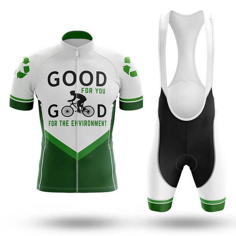 GOOD FOR THE ENVIRONMENT Cycling Short Sleeve Jersey Set