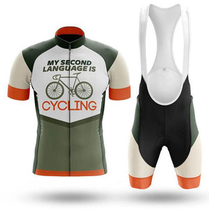 MY SECOND LANGUAGE IS Cycling Short Sleeve Jersey Set (#462)