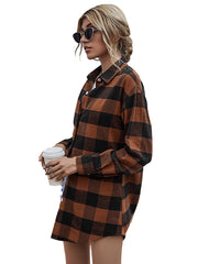 Women's Long Sleeve Plaid Shirt