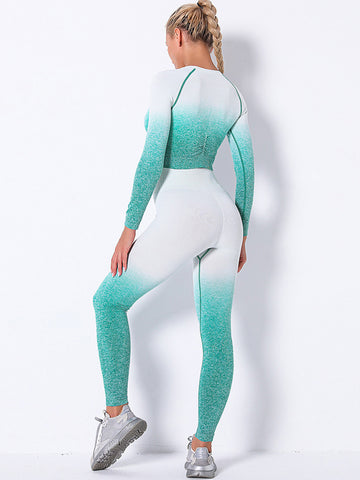 Seamless Gradient Two Piece Outfits