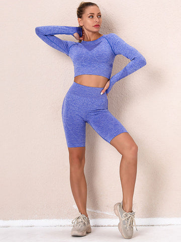 Seamless Sports Shorts 2 Pieces