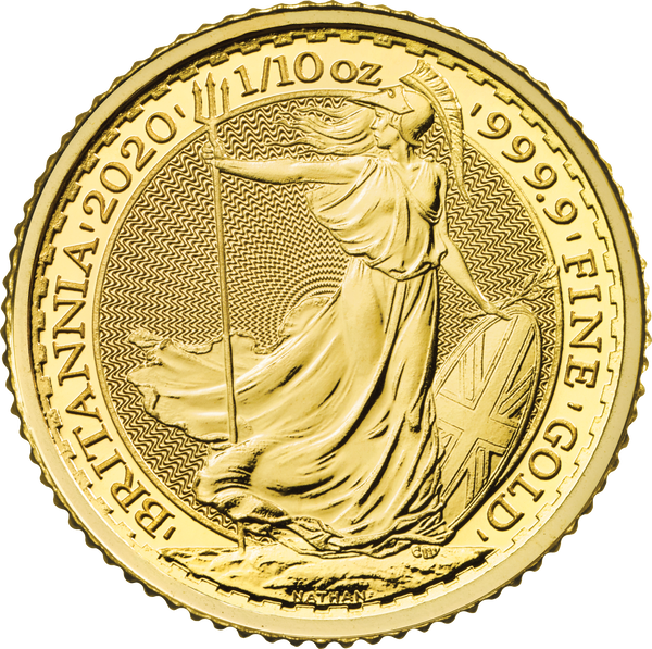 2020 Britannia One Tenth 1oz Gold Coin
