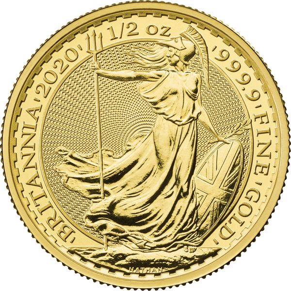 2020 Britannia Gold Half Ounce Coin
