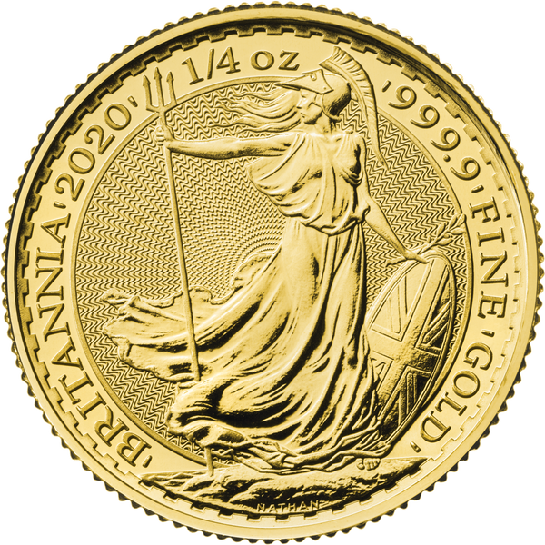 2020 Britannia Quarter 1oz Gold Coin