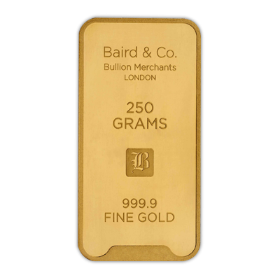 250 Gram Baird & Co Gold Bar