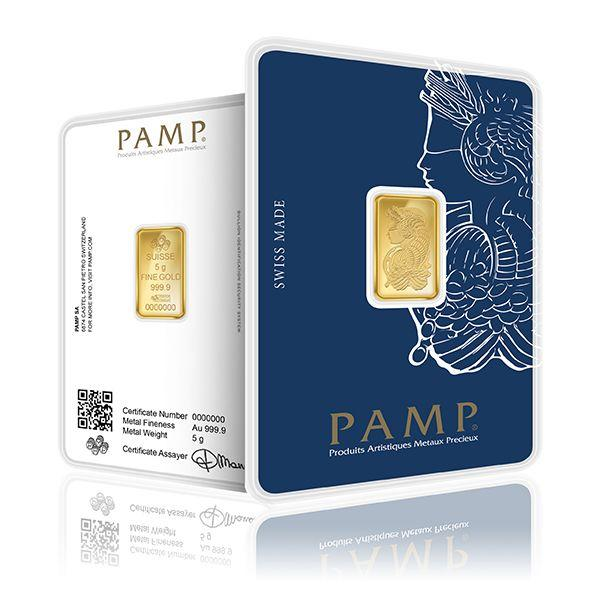 5 Gram PAMP Fortuna Veriscan Gold Bar