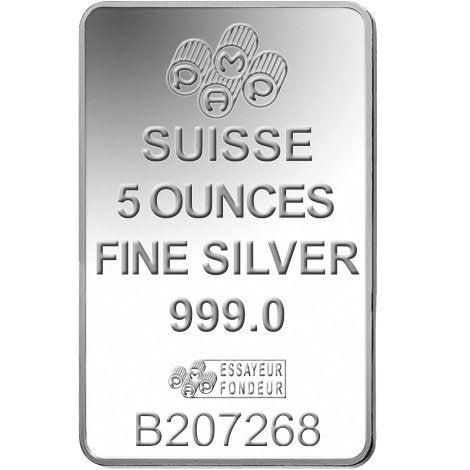 5 Oz PAMP Fortuna Silver Bar