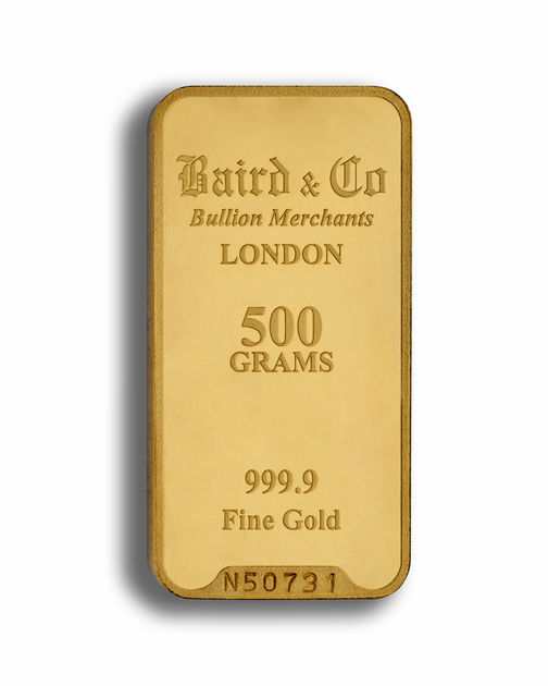 500 Gram Baird & Co Gold Bar