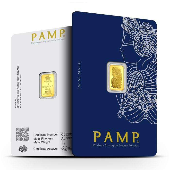1 Gram PAMP Fortuna Veriscan Gold Bar