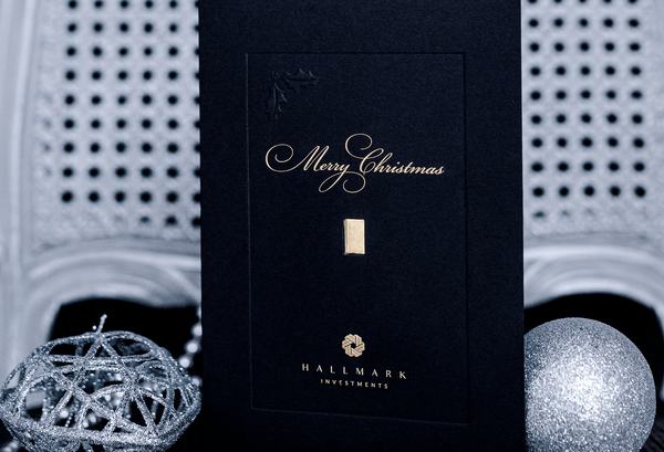 Christmas Gold Bar Gift Card