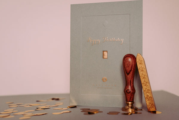 Birthday Gold Bar Gift Card
