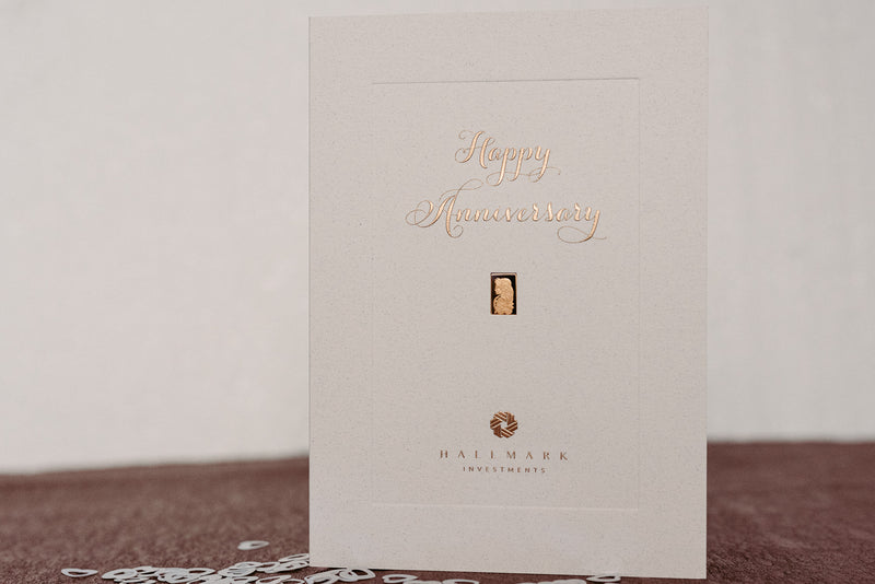 Anniversary Gold Bar Gift Card