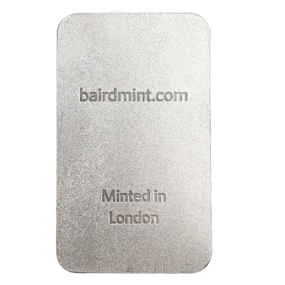 100 Gram Baird & Co Minted Silver Bar
