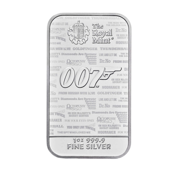 1 oz James Bond Minted Silver Bar