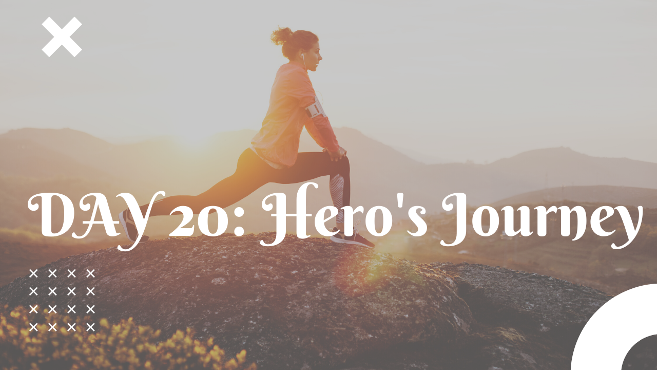 Day 20 Hero's Journey free workout plan