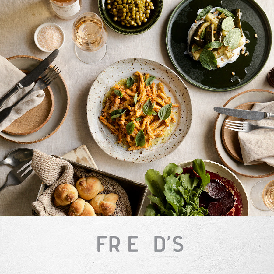 FRED'S AT HOME - TOMATO & ALMOND PESTO CASARECCE (Vegetarian)