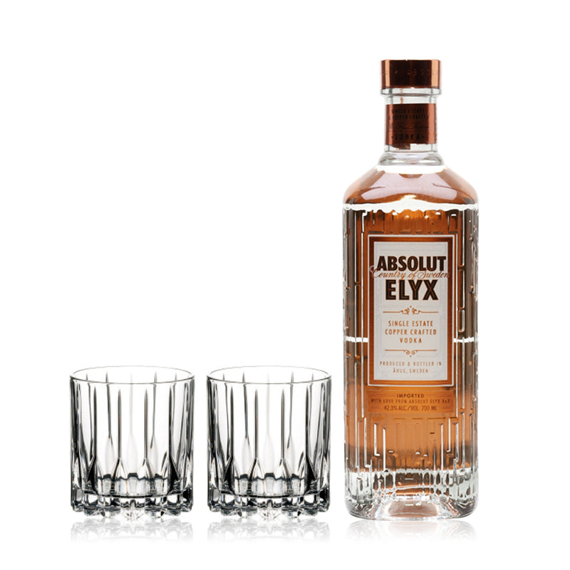 ABSOLUT ELYX MAGNUM & RIEDEL GLASSES