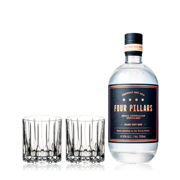 FOUR PILLARS GIN & RIEDEL GLASSES