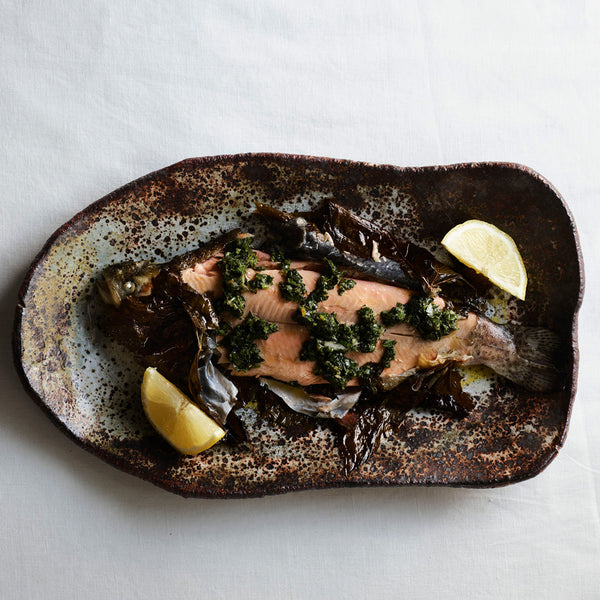FRED'S AT HOME - RAINBOW TROUT IN VINE LEAVES