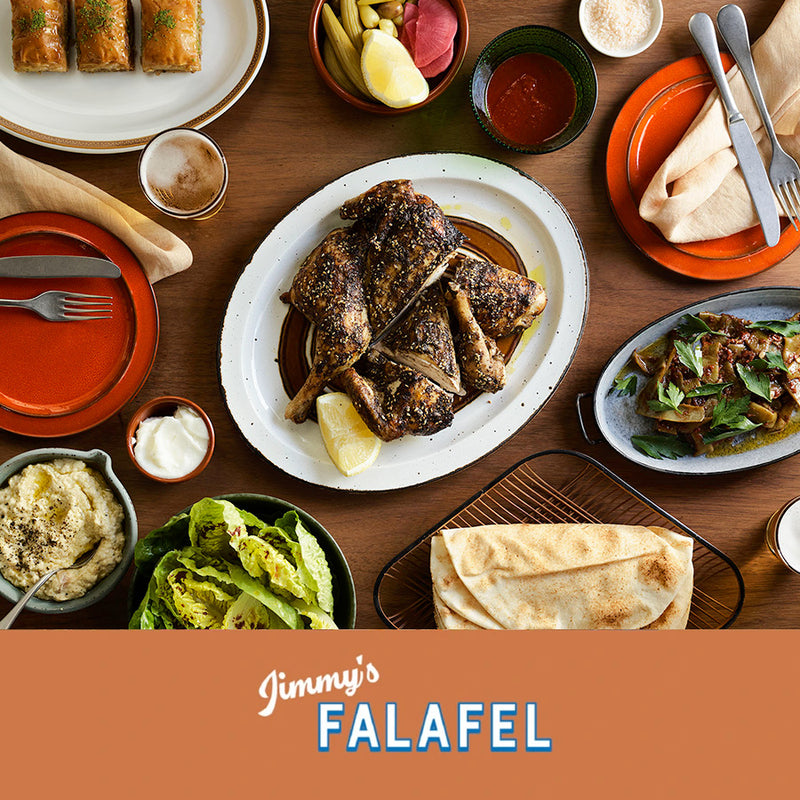 JIMMY'S FALAFEL AT HOME - MEZZE & WHOLE BUTTERFLIED CHICKEN