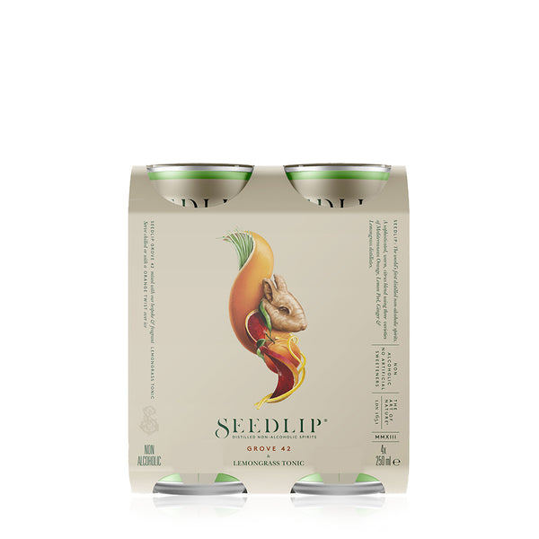 SEEDLIP GROVE 42 & LEMONGRASS TONIC CAN 4PK