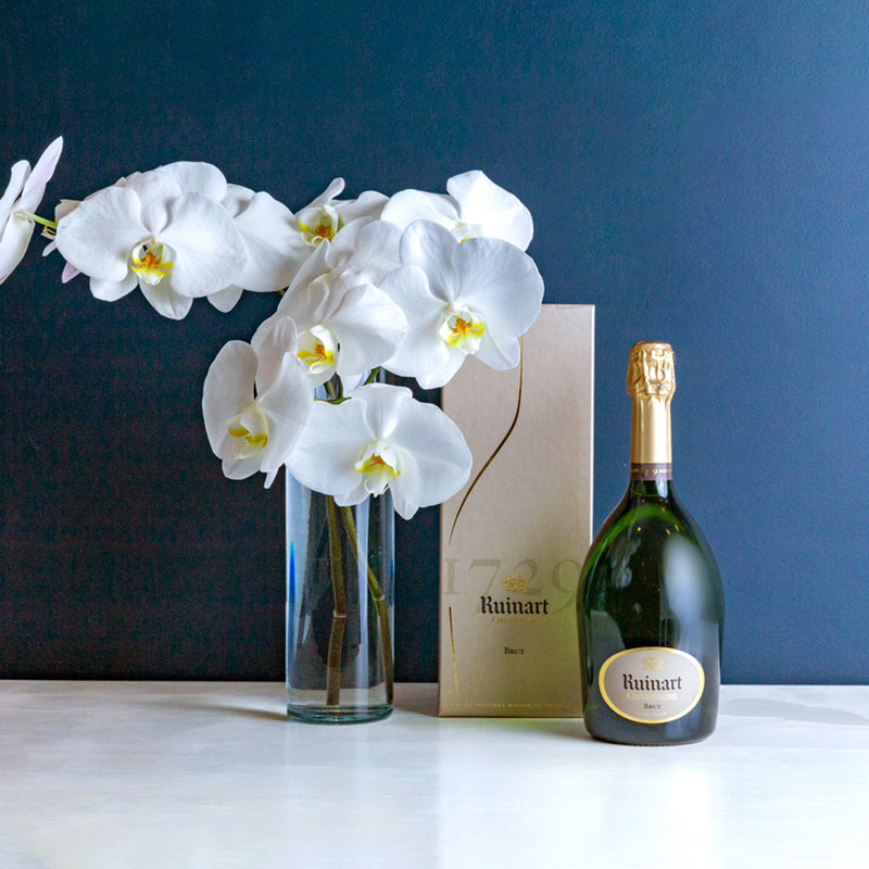 RUINART R CHAMPAGNE NV & ORCHIDS