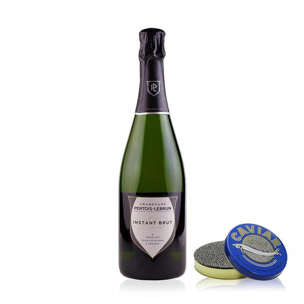 PERTOIS-LEBRUN 'L'EXTRAVERTIE' BLANC DE BLANCS NV AND STERLING STURGEON CAVIAR 50G